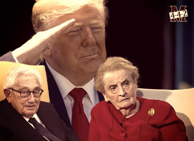 Trump expulse Kissinger et Albright du conseil de défense du Pentagone