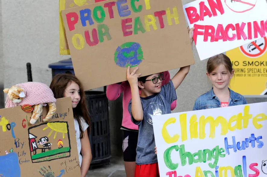 Non à la fracture hydraulique © Connor Mulvaney pour Environmental Health News