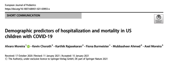 Demographic predictors of hospitalization and mortality in US children with COVID-19