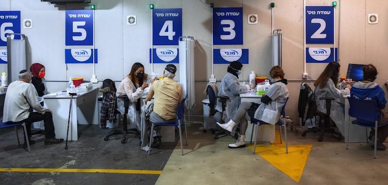 Séance de vaccination en Israël