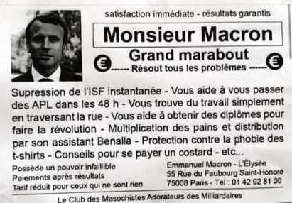Macron Marabout