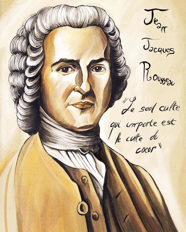 Jean-Jacques Rousseau par David
