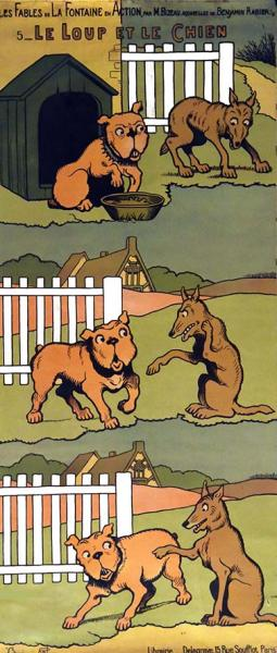 La Fontaine Le loup et le chien