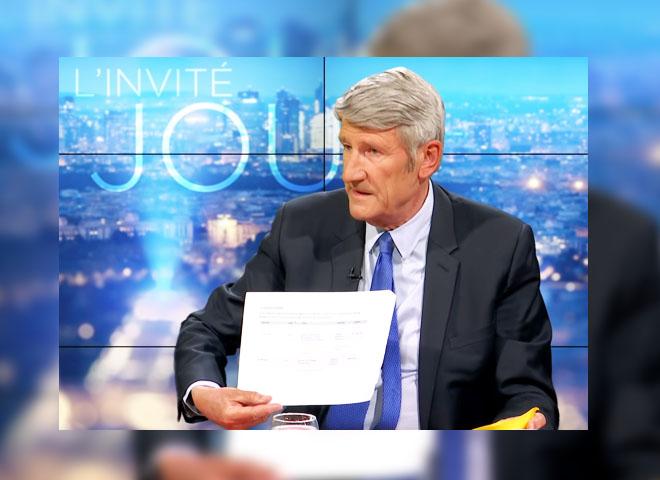 """Philippe de Villiers : « J'ai un document qui montre que le journal """"Le Monde""""reçoit des subventions annuelles de Bill Gates !"""