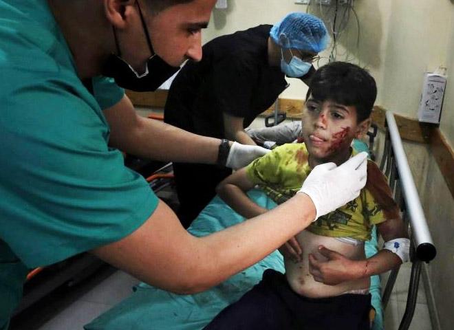 Frappes de l'armée israélienne : 9 enfants palestiniens sont morts