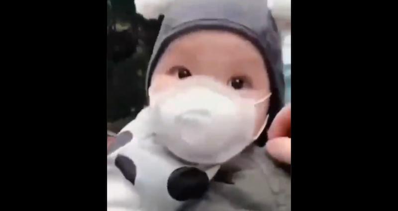 Bébé masqué