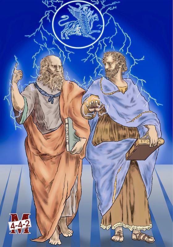 Platon et Aristote par Pierre-Arthur
