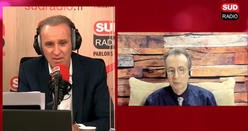 Le Pr Stéphane Gayet, fermement opposé au masque l'extérieur, au micro de SudRadio