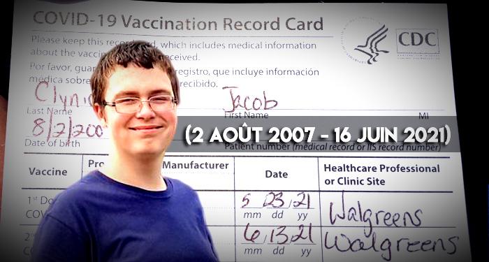 Un adolescent de 13 ans décède suite à sa 2e injection Pfizer
