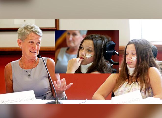 Maddie de Garay, 12 ans, en fauteuil roulant à cause du vaccin Pfizer
