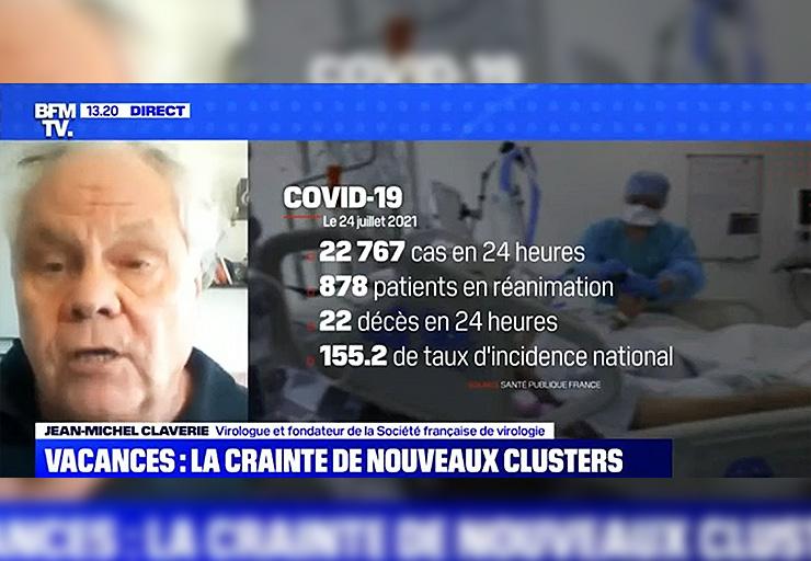 Le virologue Jean-Michel Claverie dénonce un mensonge d'État sur BFMTV : «Où sont les malades ?»