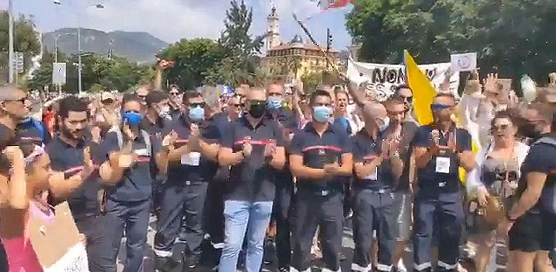Nice : les pompiers ont rejoint la manifestation du 31 juillet 2021
