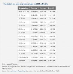 Population française en 2021