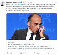 Bernard-Henri Lévy, Twitter, 12 octobre 2021